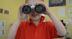 Nursery Boy with Binocculars