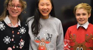 Students in Christmas Jumpers