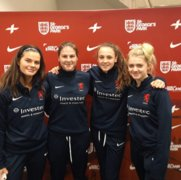 Eloise Ward and England team mates