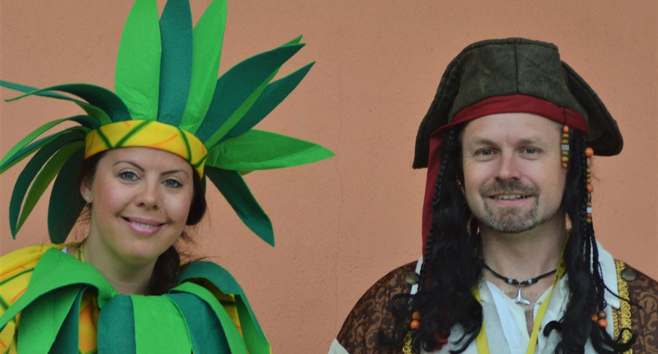 Two Nursery Teachers in Fancy Dress