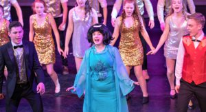 Hairspray Shot with Tracy Turnblad Centre Stage