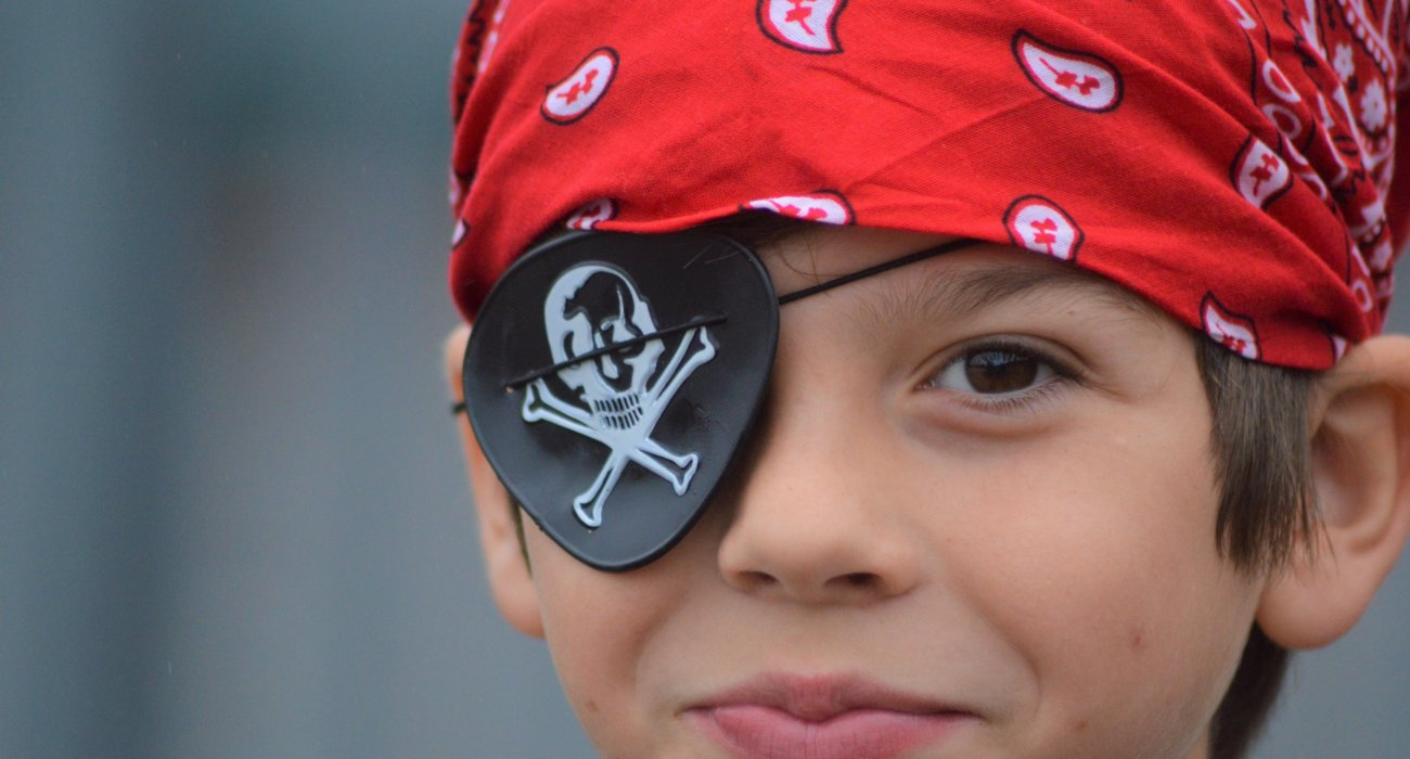 Prep Boy Dressed as Pirate