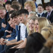 Students Laugh During Final Assembly
