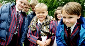 Prep Boys with Snake