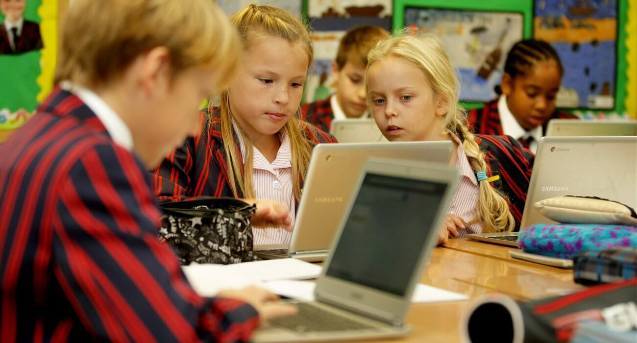 Prep Children with Laptops